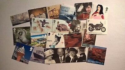 20 Mint First Class Commemorative Stamps With Original Gum For Postage 14/19