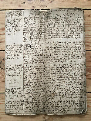 17th Century 14 Page Manuscript of Extracts from Court Rolls for Leeds from1633