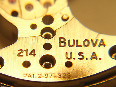 Brand New Old Stock Bulova 214 Watch Parts for Watch Repair Parts Accutron