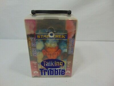HTF Star Trek Trials & Tribble-ations VHS Gift Set with talking Tribble