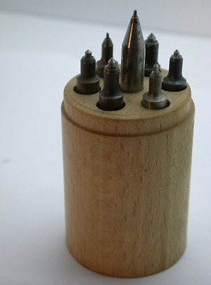 Vintage Set of Hole Closing Punches for Clock Repair French Made - 23GG
