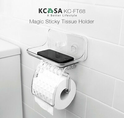 KCASA KC-FT68 Bathroom Magical Sticky Tissue Holder Waterproof Toilet Paper Box