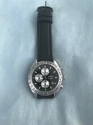 Vintage Mens Casio Chronograph Tachymeter Quartz Watch MTD-1041