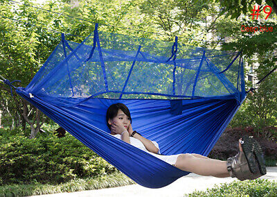 Single Person Portable Parachute Fabric Mosquito Net Hammock for Indoor Outdoor