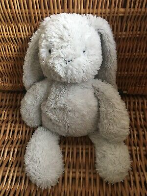 """Marks And Spencer M & S Grey Bunny Rabbit Soft Toy 14"""" Tall"""
