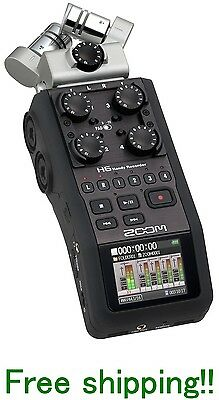 Zoom H6 Handy Recorder Interchangeable Microphone Linear Pcm Ems F/S Brand New!