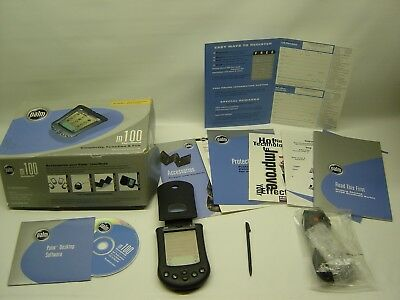 Boxed Working See Pics Palm M100 Handheld Palm Pilot COM Port Plug w/ Paperwork
