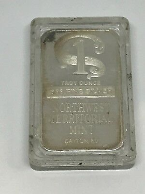 1 Troy Ounce .999 Fine Silver Bar Northwest Territorial Mint Free Shipping