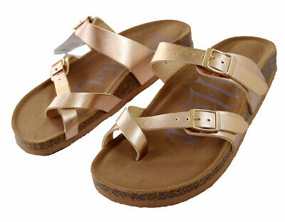 5f1281676674 Mad Love Women s Prudence Size 6W Shoes Rose Gold Double Strap Sandals
