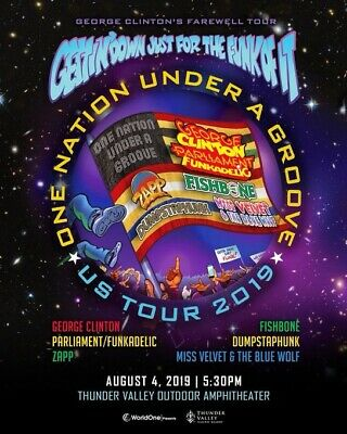 (2) GEORGE CLINTON & PARLIAMENT Tickets ~ Premier Row AA ~ Thunder Valley