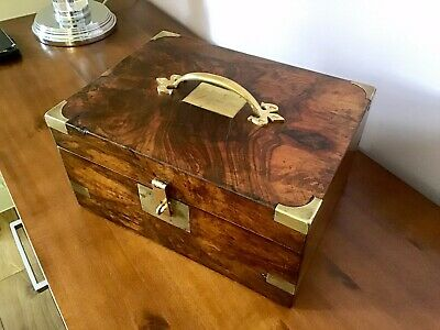 Attractive Antique Figured Walnut Work /Sewing / Document /Writing/Jewellery Box