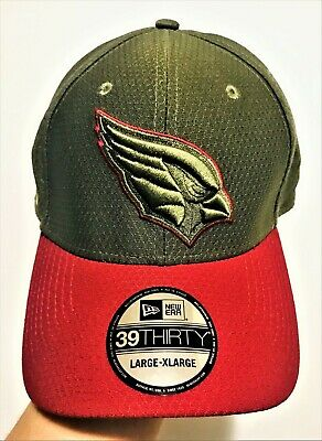 competitive price 885df a1fa6 New Era Arizona Cardinals 39THIRTY NFL 2017 Salute To Service Sideline Hat  L XL