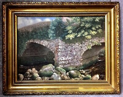 Small Decorative Antique Oil Painting Oil On Canvas Gilt Frame