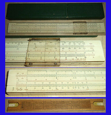 TG= ANTIGUA REGLA CALCULO MADERA  FABER CASTELL 1/54 mm  de 1940 Slide Rule