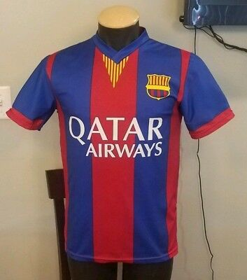 7ce84bf0172 Lionel Messi Soccer Jersey Adult Small FC Barcelona unicef Qatar Airways #10