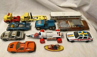 Job Lot Vintage Corgi Die Cast Toy Cars - Captain America Buick Regal SAAB