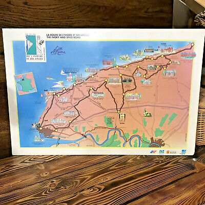Vintage Normandy Map Poster France The Ivory & Spice Road