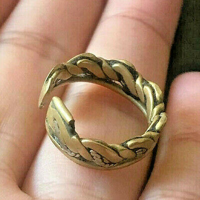 RARE Ancient VIKING Twisted Bronze Silver RING vintage museum quality ARTIFACT