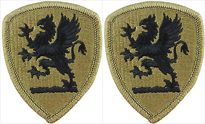 2 Pack US Army Michigan National Guard OCP Hook Back Military Patches