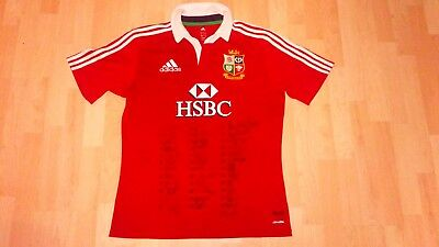 Look!!-British & Irish Lions 2013 Squad Official Signed Rugby Shirt- Awesome!!