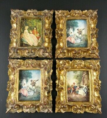 Vintage Italy Ornate Gesso Picture Frames Gold Gilt Lot 4