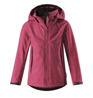 BNWT REIMA SOFTSHELL GIRLS JACKET MINGAN Pink / Age 12 Years/ RRP £66.89