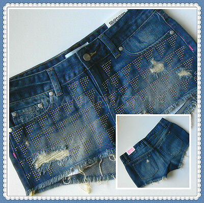 219370f2169ad VICTORIAS SECRET LOVE Pink Ombre Bling Sequin Denim Cheeky Cut Off ...