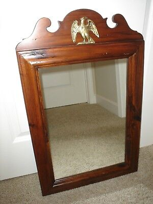 ETHAN ALLEN 43-1177 Antique Pine Old Tavern 18x29 Wall Mirror W/ Eagle Excellent