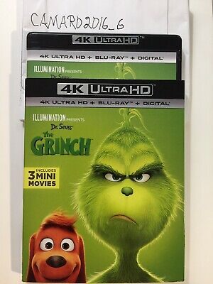 Illumination's Dr. Seuss' The Grinch (4K UHD + Blu-ray + SLIPCOVER) NO DIGITAL