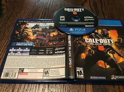 Call of Duty: Black Ops 4 (Sony PlayStation 4, 2018) USED SHOOTER FREE US SHIP