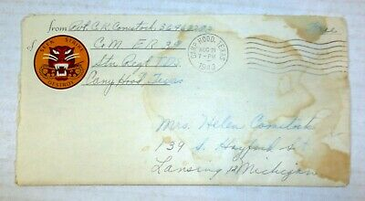 WWII soldier's love letter, Tank Destroyer Center, Camp Hood, Texas, Fort