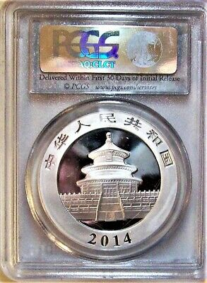 2014 Silver 10 Yuan Panda from China PCGS - MS-70 First Strike