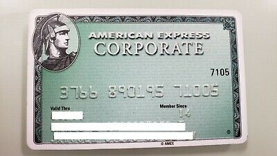 Mexico - American Express - Expired - Credit Card - Corporate - Back 2