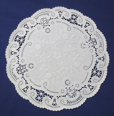 "(75) 12"" Round White French Lace Paper Doily Doilies Party Decoration Inches"