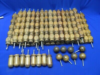 Lot of 32 Vintage Architectural Wooden Spindles Balusters Porch Railing +16 oth