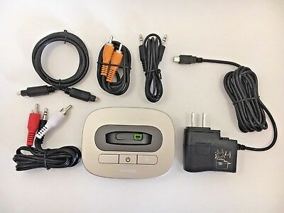 PHONAK™ TVLink II TV LINK 2 BASE W/ POWER SUPPLY &  COMPLETE CABLE SET