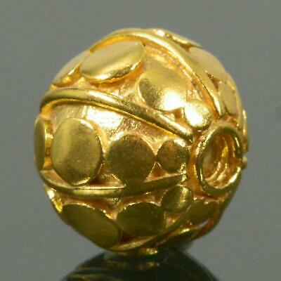 10.05 mm Gold Vermeil Sterling Silver Bali Bead 24K Gold-Plated 1.85 g