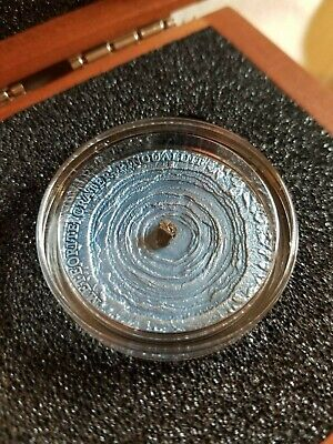 NIUE 2018 1 Oz Silver $1 PINGUALUIT METEORITE CRATER Antique Finish Coin.