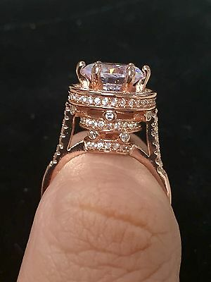 Heart Shaped Ruby /& Russian Lab Sim Diamond Solitaire Engagement Ring 6X161
