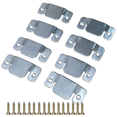 """8x 1.8x3.8x0.08"""" Furniture Sofa Couch Connector Sheet Metal With Screws"""