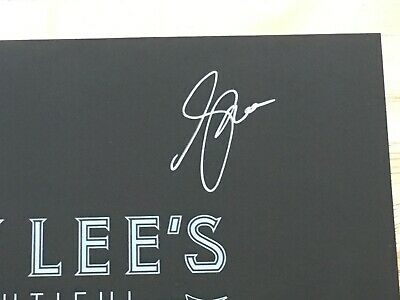 Signed Geddy Lee's Big Beautiful Book of Bass No Personalization Rush proof