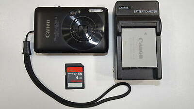 Canon PowerShot Digital ELPH SD780 IS 12.1MP Digital Camera - Black Tested