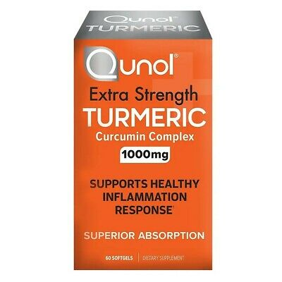 Turmeric Curcumin 1000mg Qunol Ultra High Absorption Extra Strength Softgels 30C