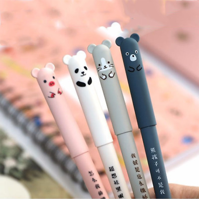 Cute Kawaii Cartoon Cat Gel Ink Pen BallpointBlue Ink Student Pens