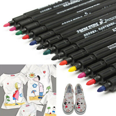 Fabric Paint Marker Permanent Marker Pens for T shirt Clothes Shoes DIY Graffiti