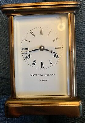 Matthew Norman Carriage Clock
