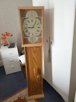 Long Case Clock, Replica Keeps Very Good Time, Battery Operated Good Condition
