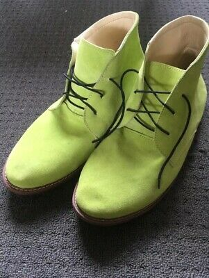 green leather boots Amazing Colour Vintage Rare 80s Hardly Worn