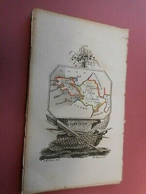 100% Original County Galway Ireland Map By A Perrot C1823 Vgc Scarce
