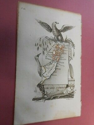 100% Original Orkney Caithness  Scotland Map By  Perrot C1823 Vgc Scarce